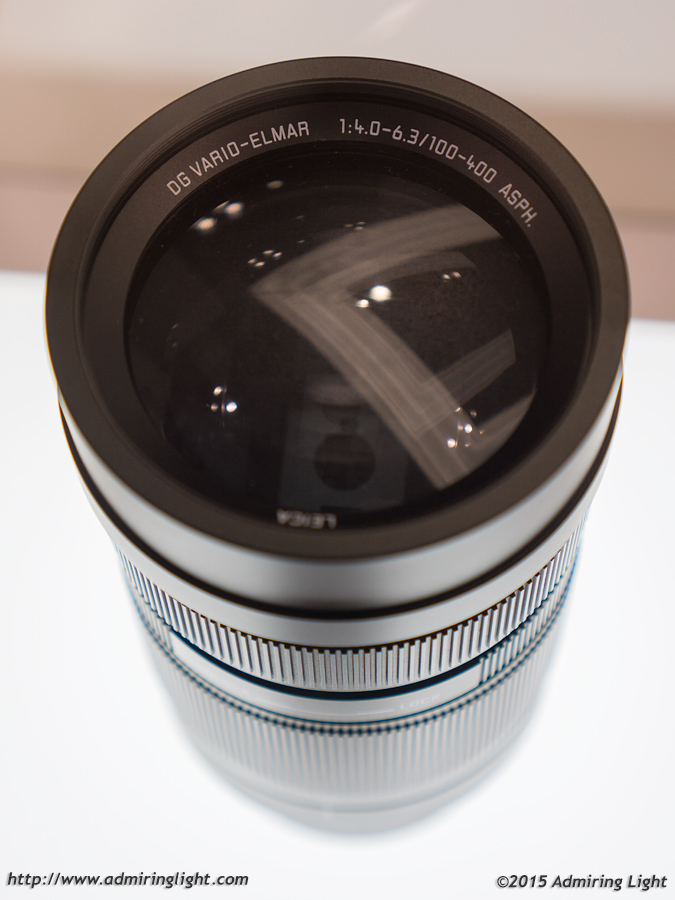 The front element of the new 100-400mm