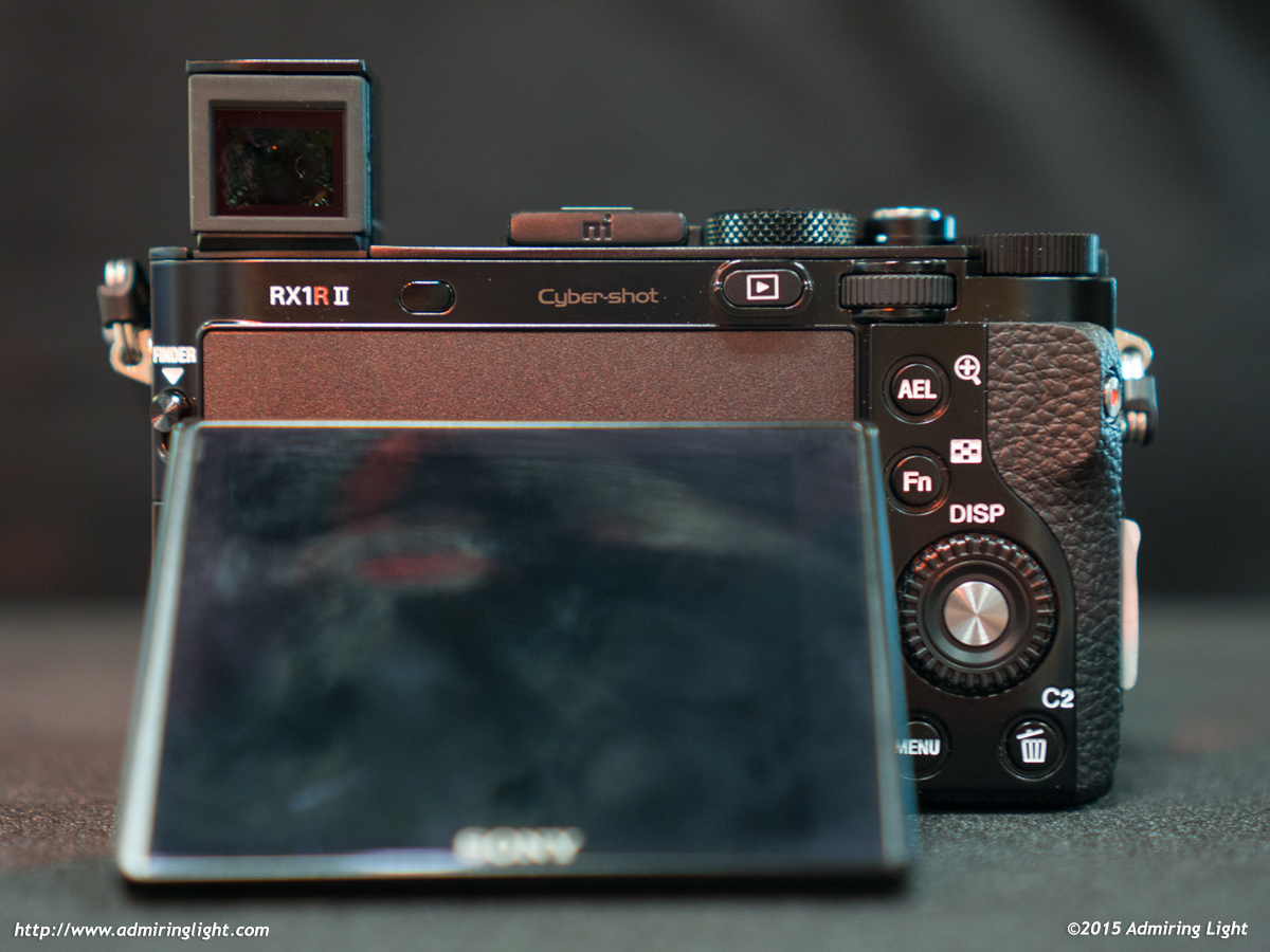 The RX1R II also has a tilting rear screen