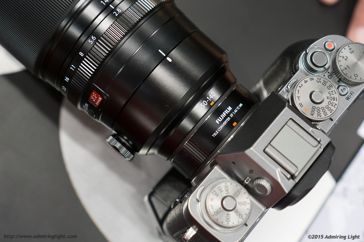 The 1.4x Teleconverter looks nice on the 40-150mm, and has a weather sealing gasket on the rear mount