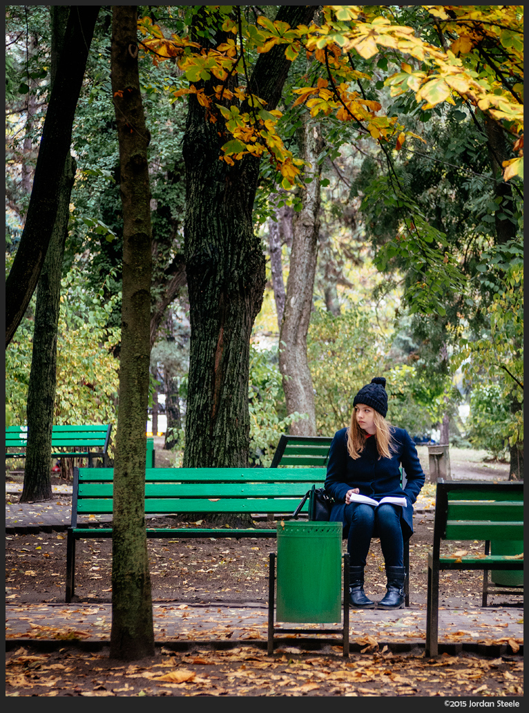 Waiting in the Park, Chisinau, Moldova - Olympus OM-D E-M5 with 40-150mm @