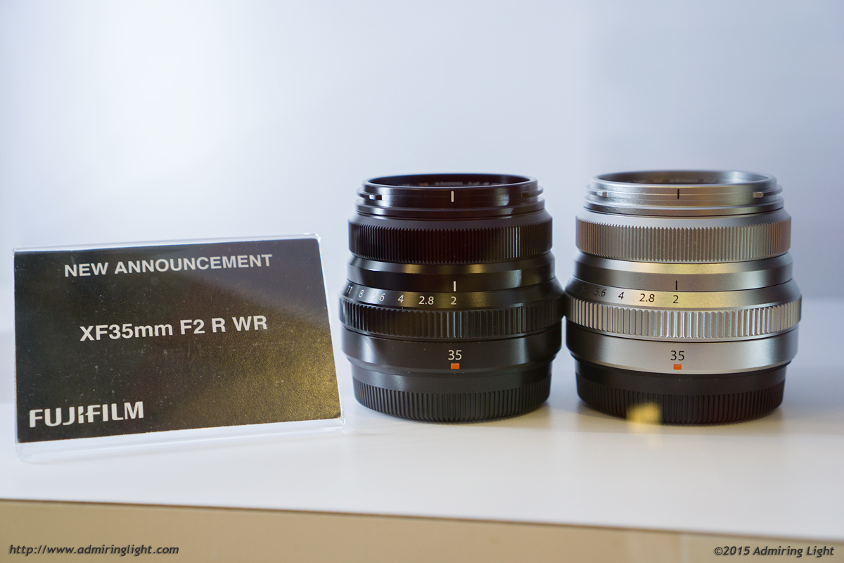 XF 35mm f/2 in both black and silver