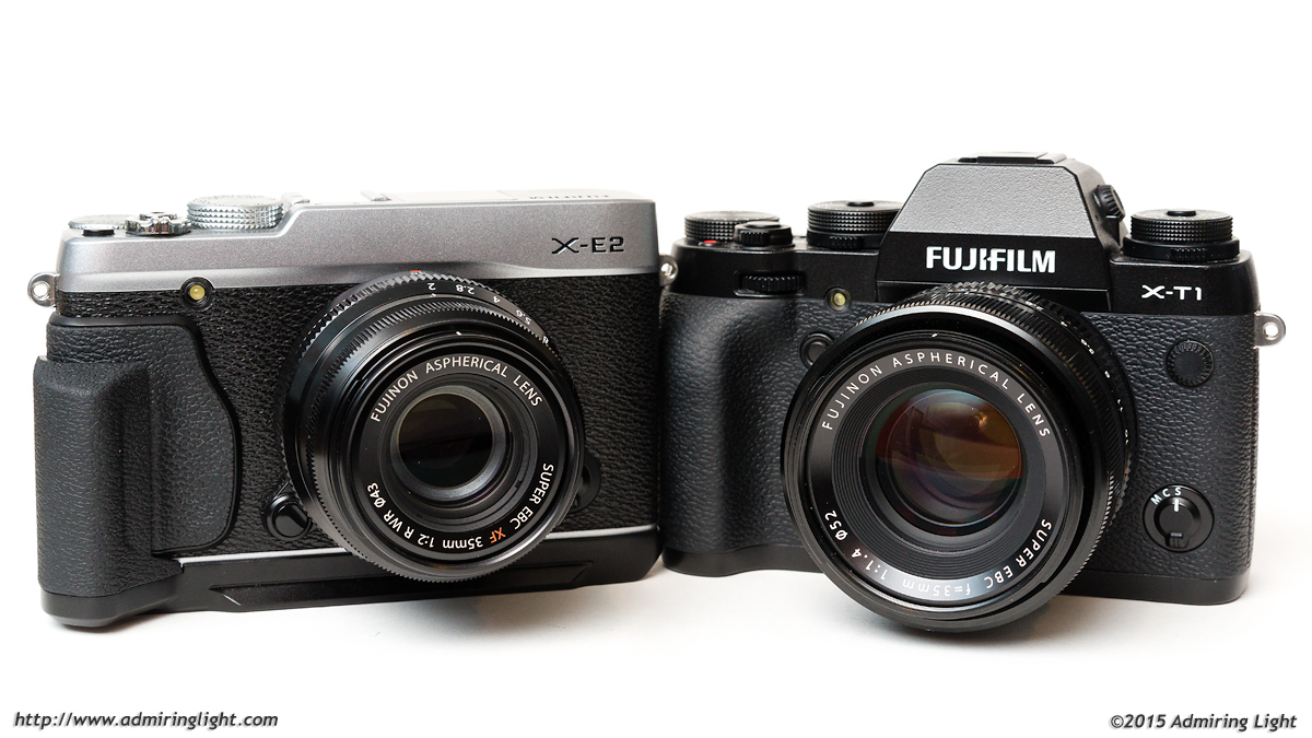 X-E2 with 35mm f/2 WR and X-T1 with 35mm f/1.4