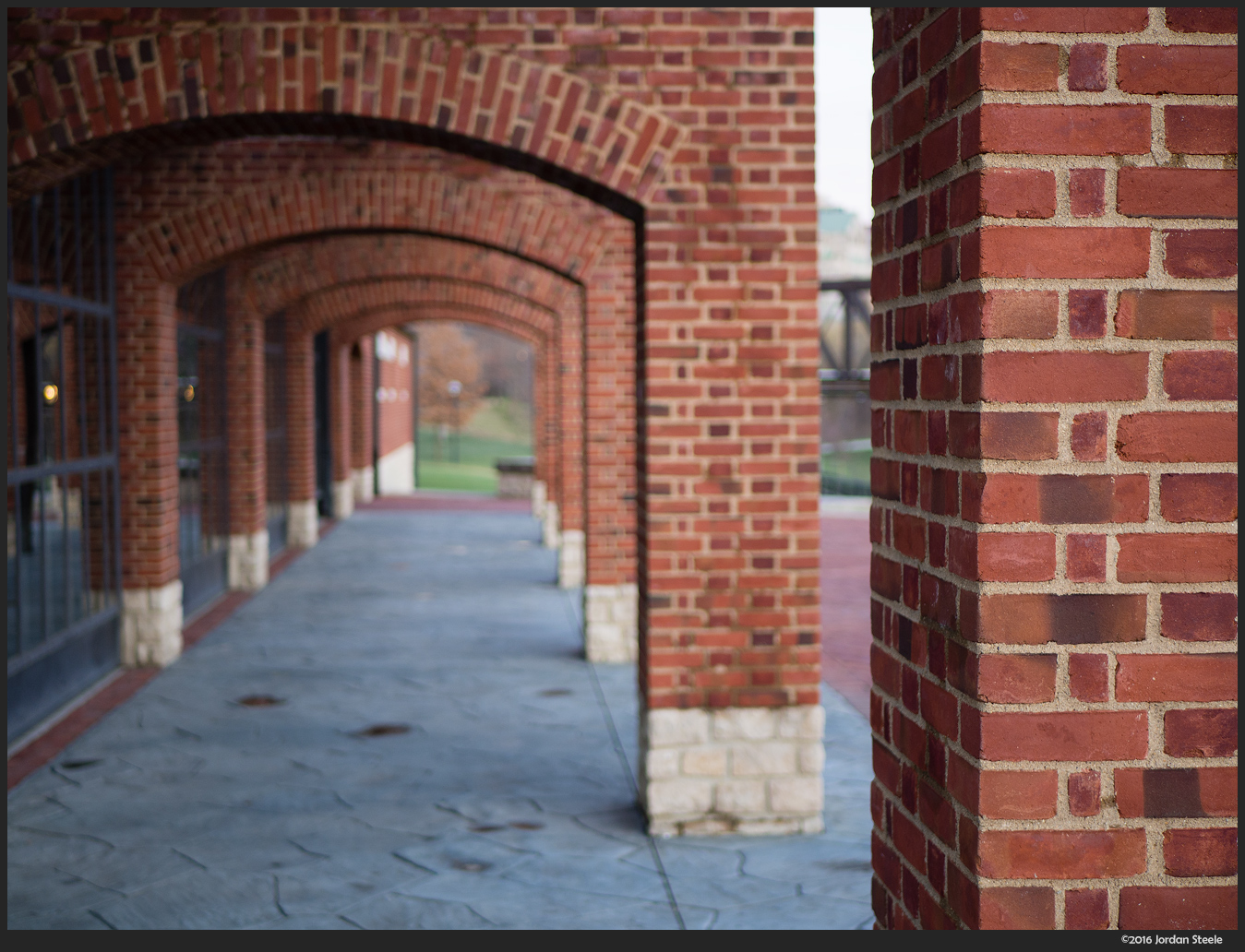 Brick Arches - Olympus OM-D E-M10 Mark II with Panasonic 25mm f/1.7 @ f/1.7