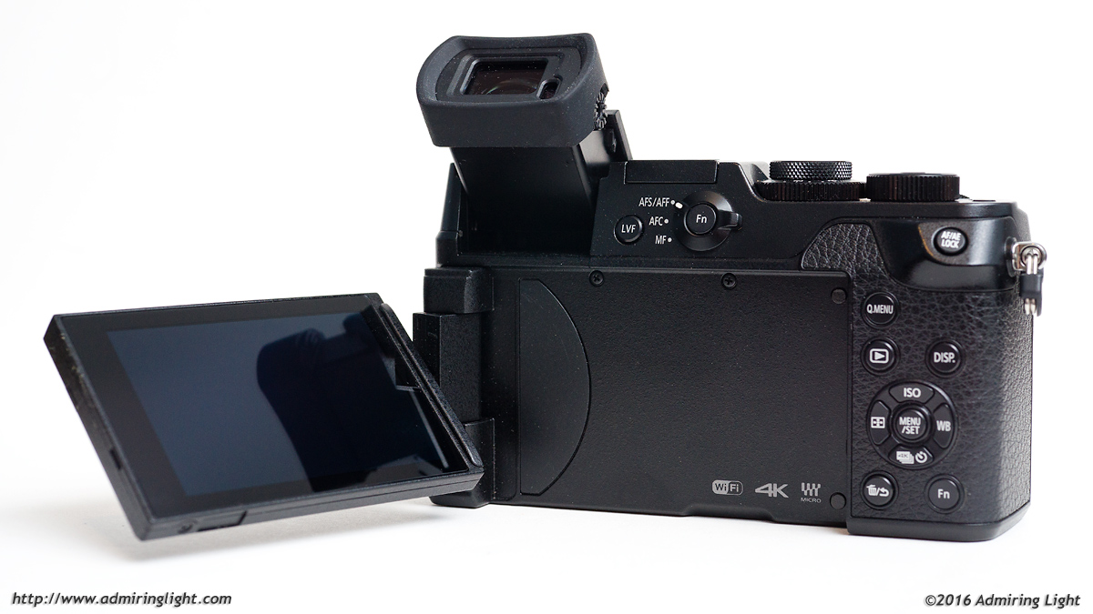 The articulating rear screen and tilting EVF of the GX8