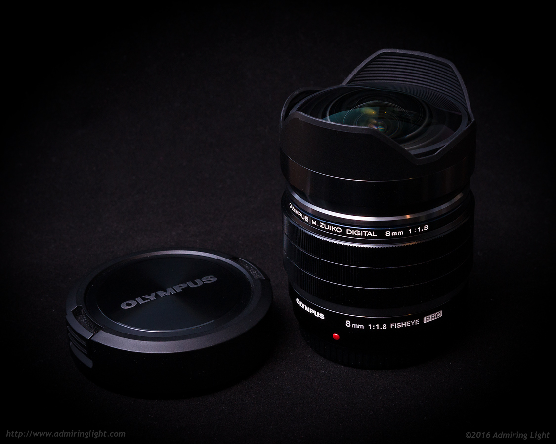 The 8mm f/1.8 Fisheye with it's lens cap