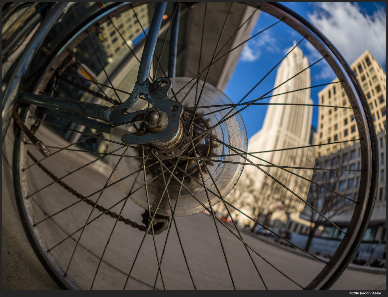 View from a Bike Wheel - Olympus OM-D E-M10 Mark II with Olympus 8mm f/1.8 Fisheye PRO @ f/4