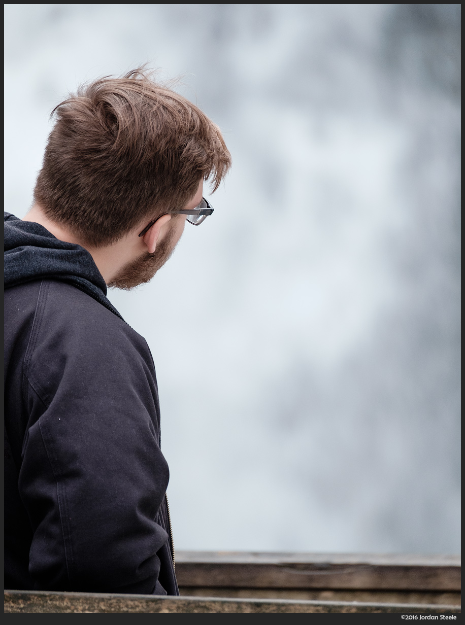 Man at the Falls - Fujifilm X-T1 with Fujinon XF 100-400mm f/4.5-5.6 @ 400mm, f/5.6