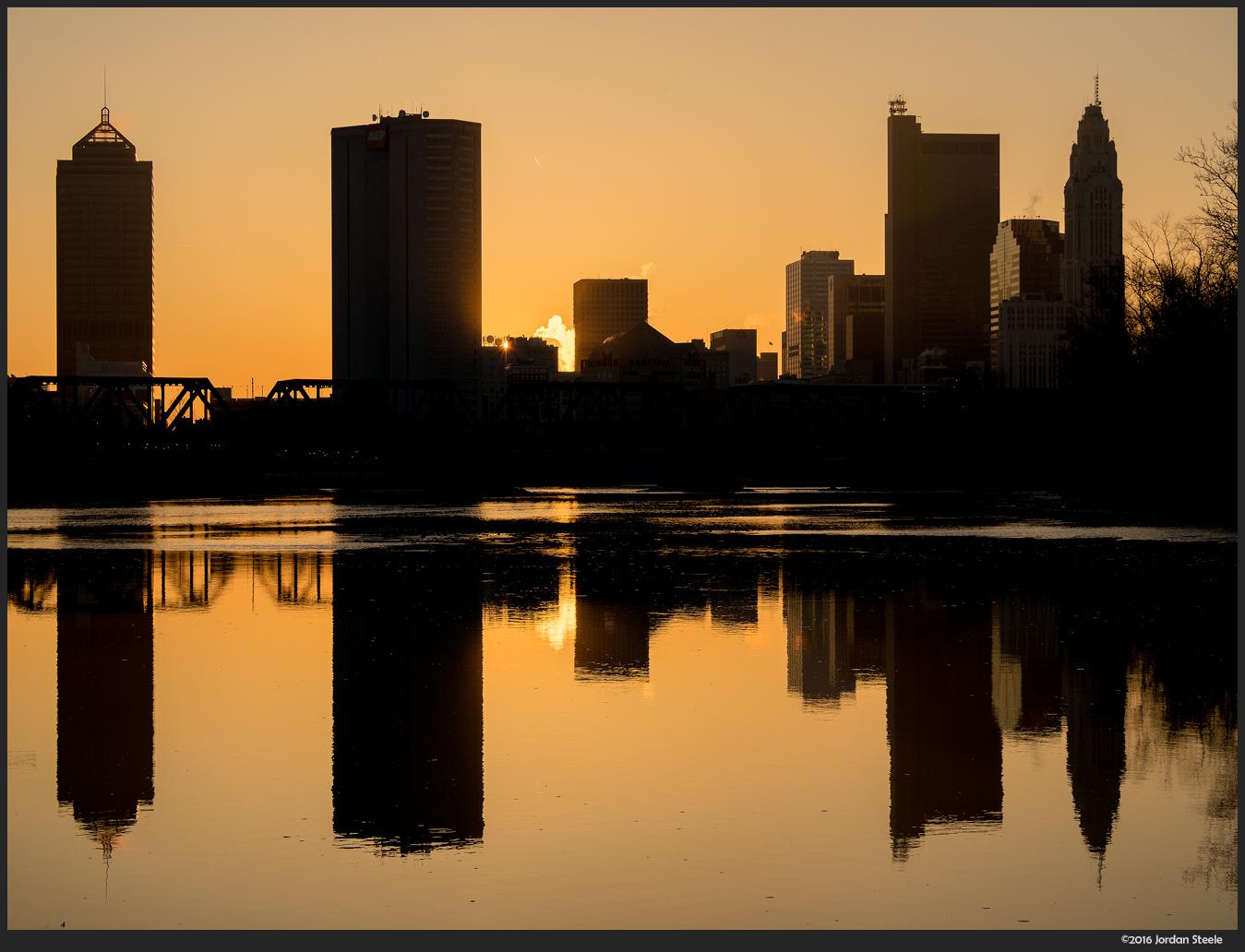 Columbus Sunrise - Olympus Pen-F with Olympus 40-150mm f/4.5-5.6 @ 40mm