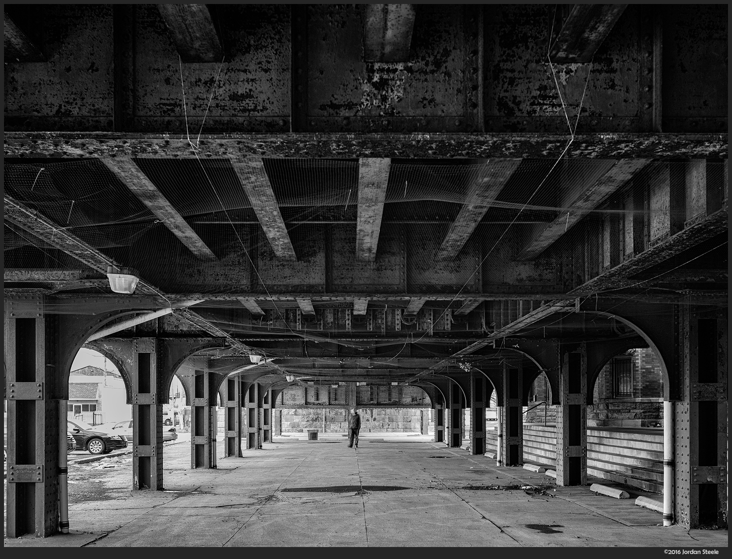 Under the Railroad - Olympus Pen-F with Panasonic 12-32mm f/3.5-5.6 @
