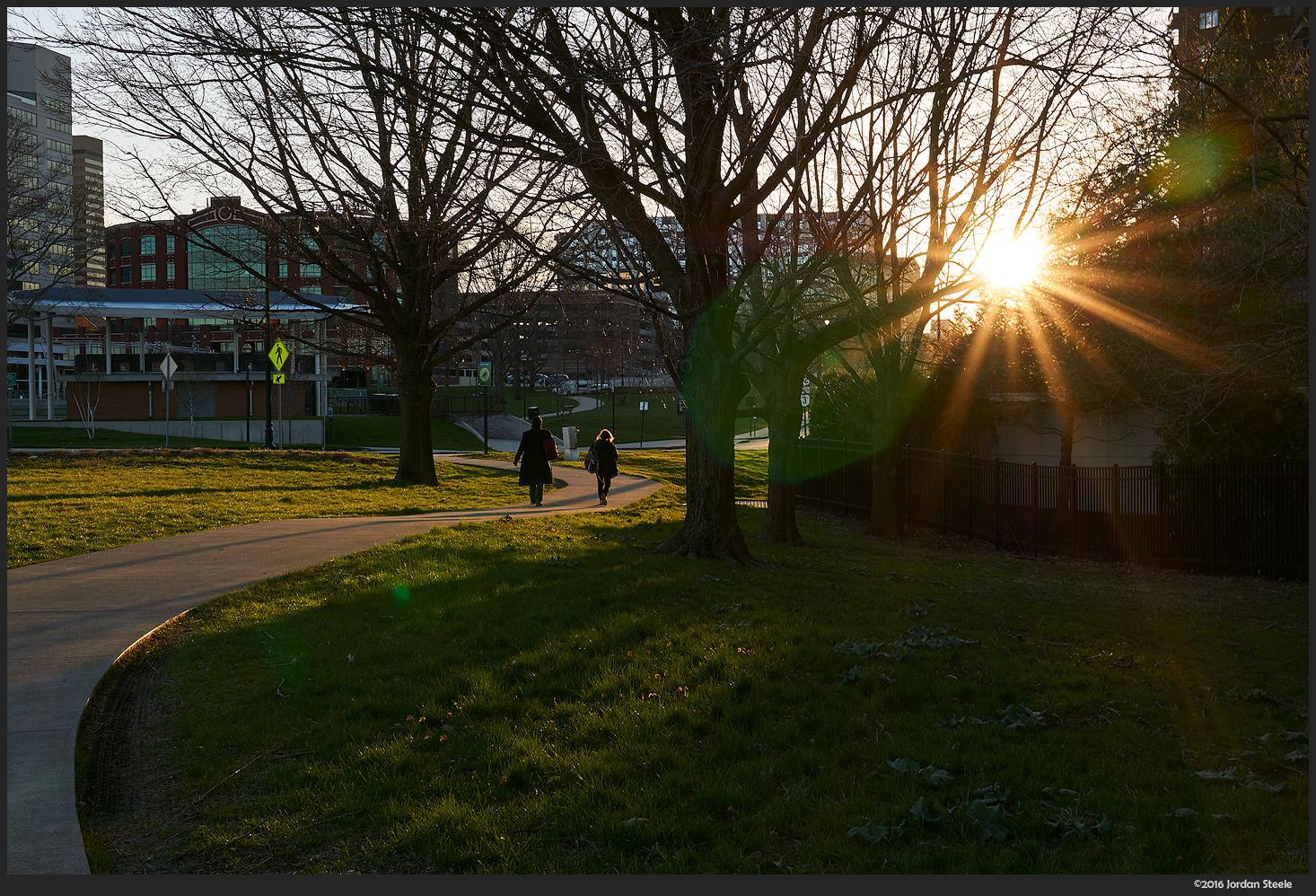 Walking at Dawn - Sony a6000 with Sigma 30mm f/1.4 DC DN @ f/11