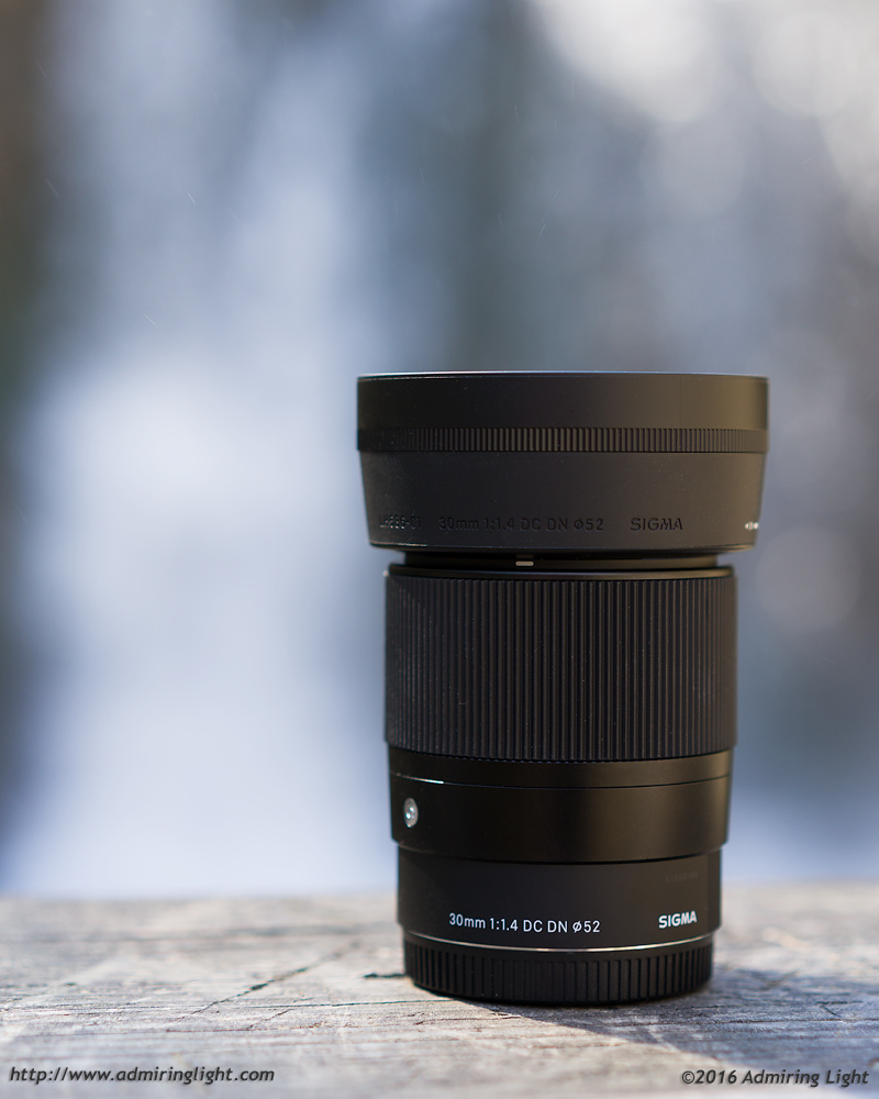 The Sigma 30mm f/1.4 isn't super small, but it handles well