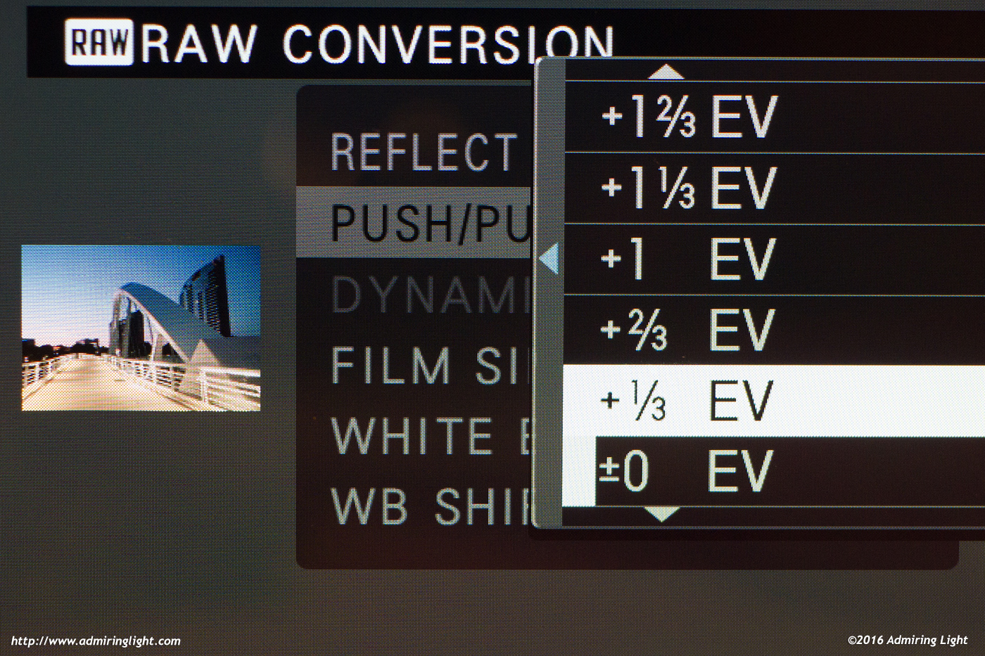 RAW conversion is the same as on other Fuji cameras, but there's no need to change what's already very well done.