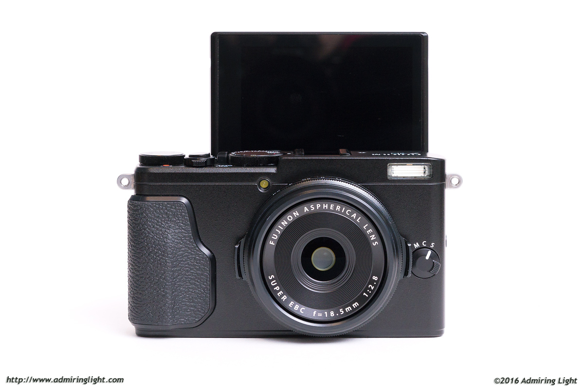 Fuji's 180 degree flippable rear LCD is also the first touch screen on a Fuji camera