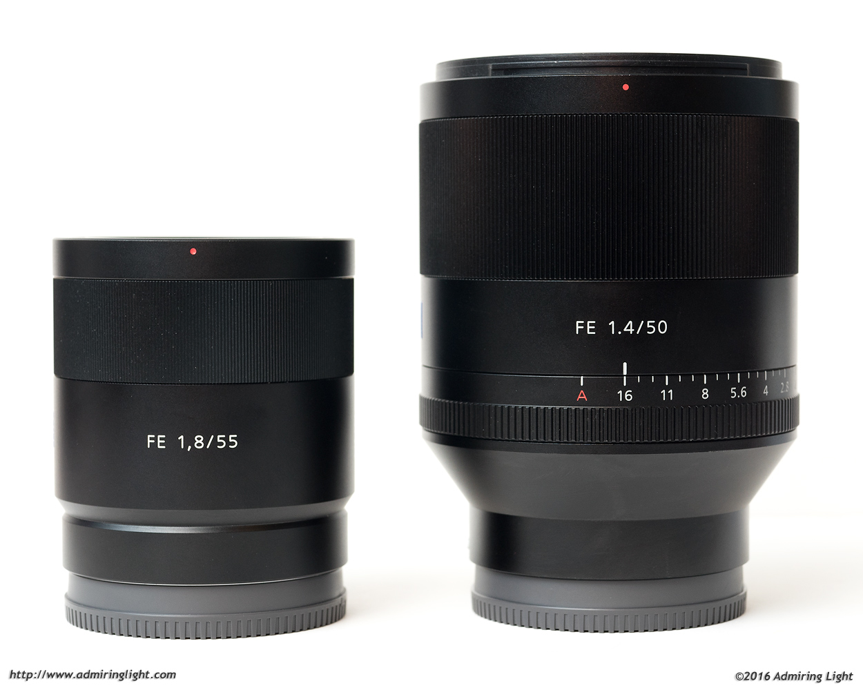FE 55mm f/1.8 and FE 50mm f/1.4