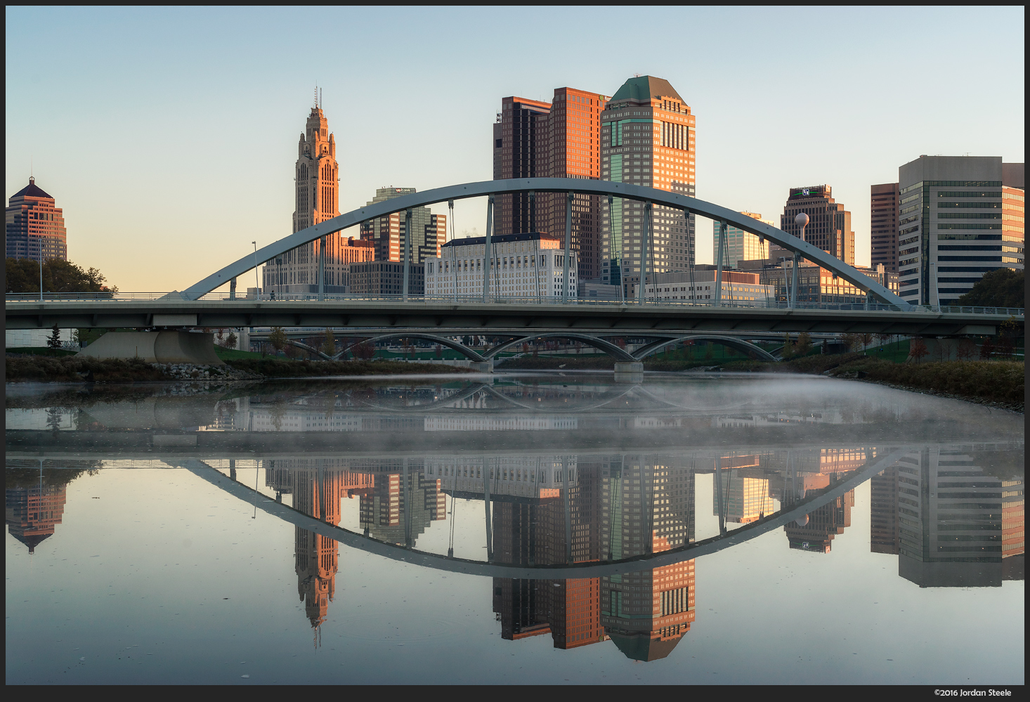 Columbus Reflected - Sony A7 II with Zeiss FE 50mm f/1.4 @ f/8