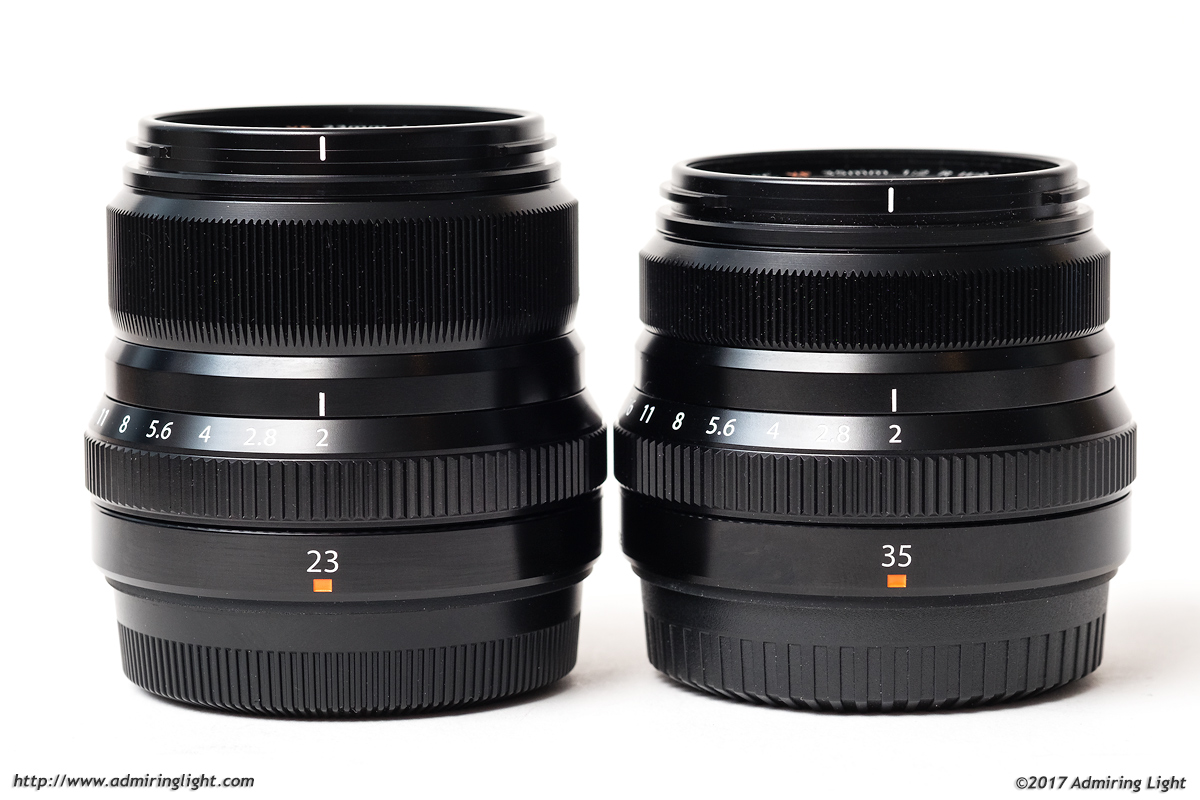 The two f/2 Fujis: 23mm f/2 and 35mm f/2