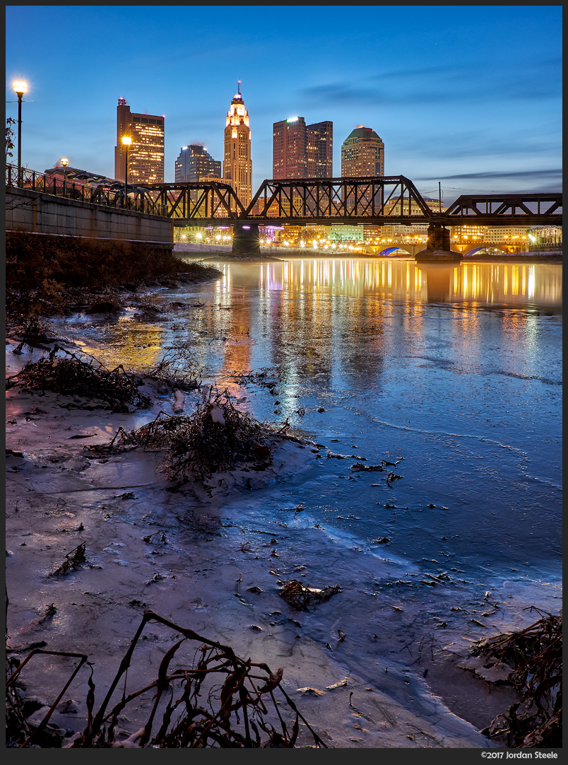 Scioto at Dawn in January - Fujifilm X-T2 with Fujinon XF 23mm f/2 R WR @ f/11