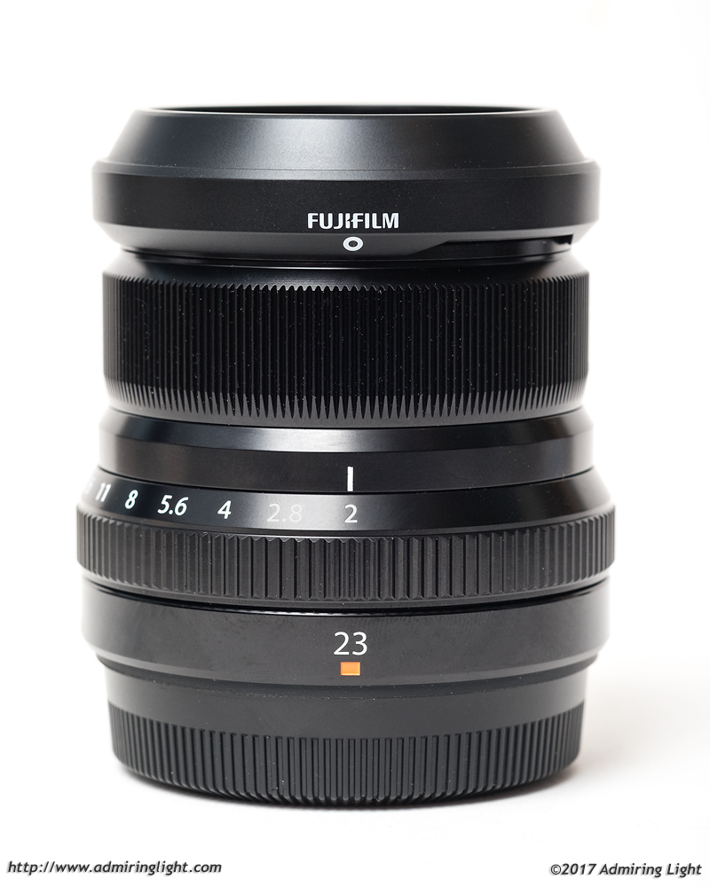 Fujifilm Fujinon XF 23mm f/2 with hood