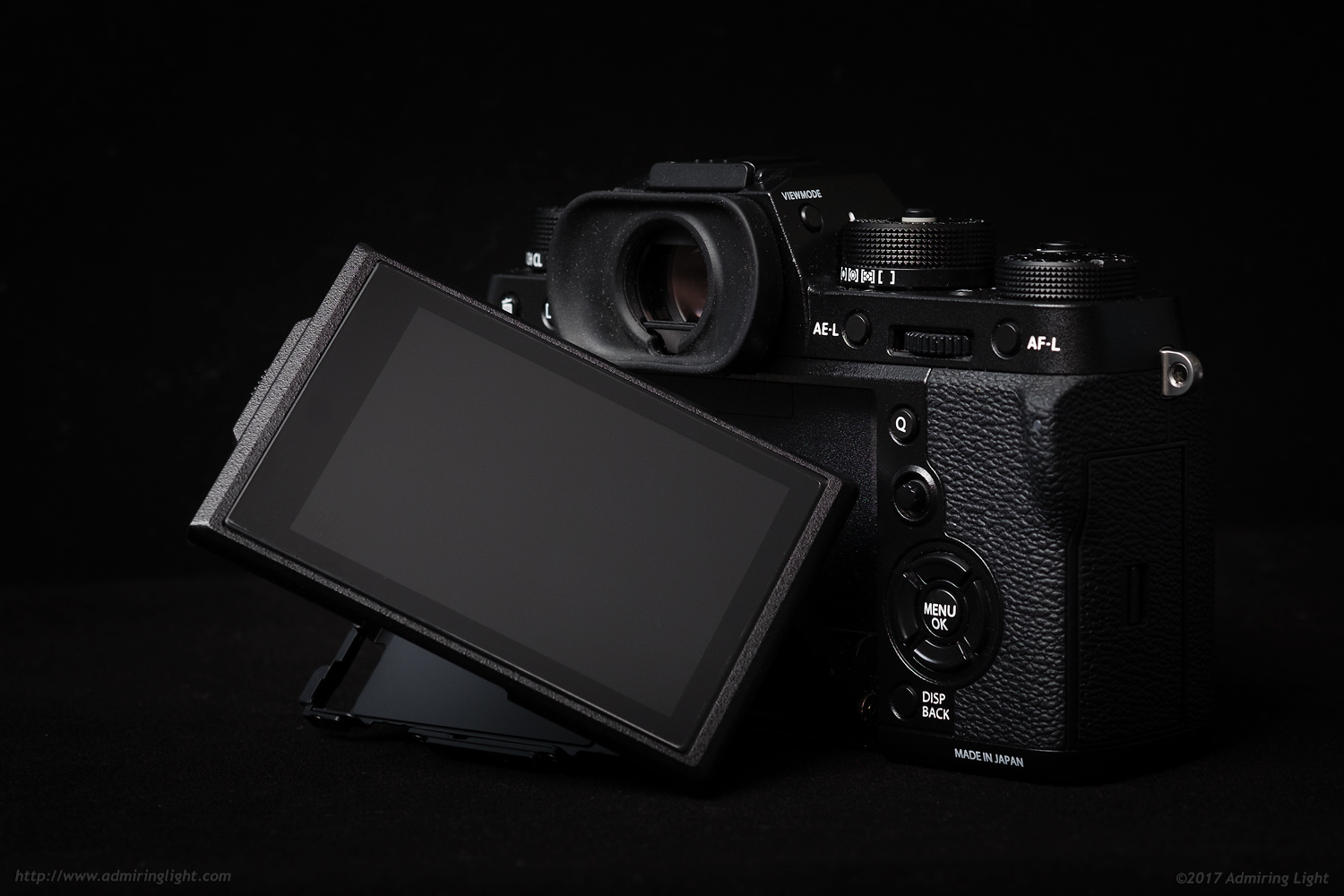 The EVF sits above the new dual-tilting rear screen