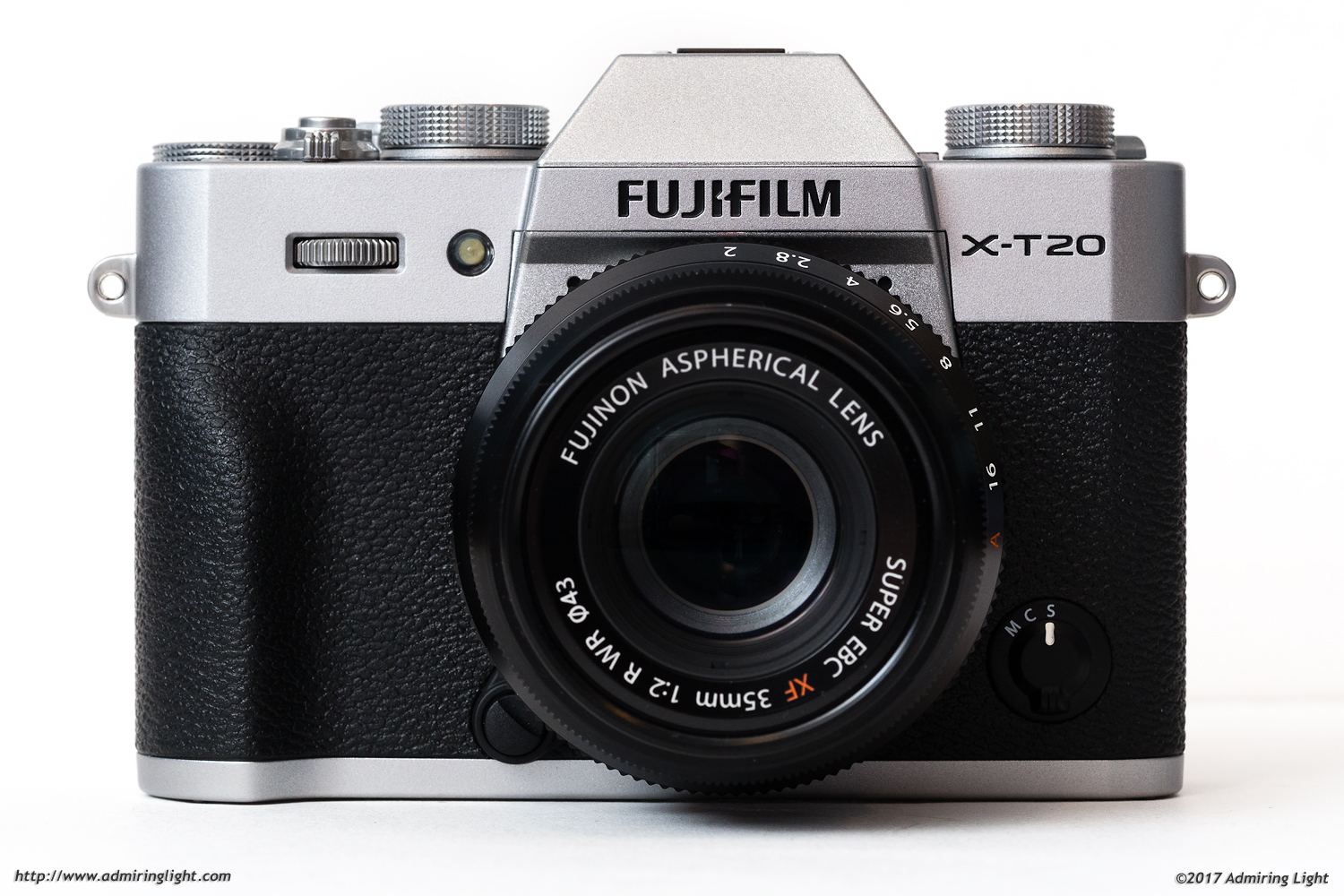 The X-T20 is a small, retro styled mirrorless camera