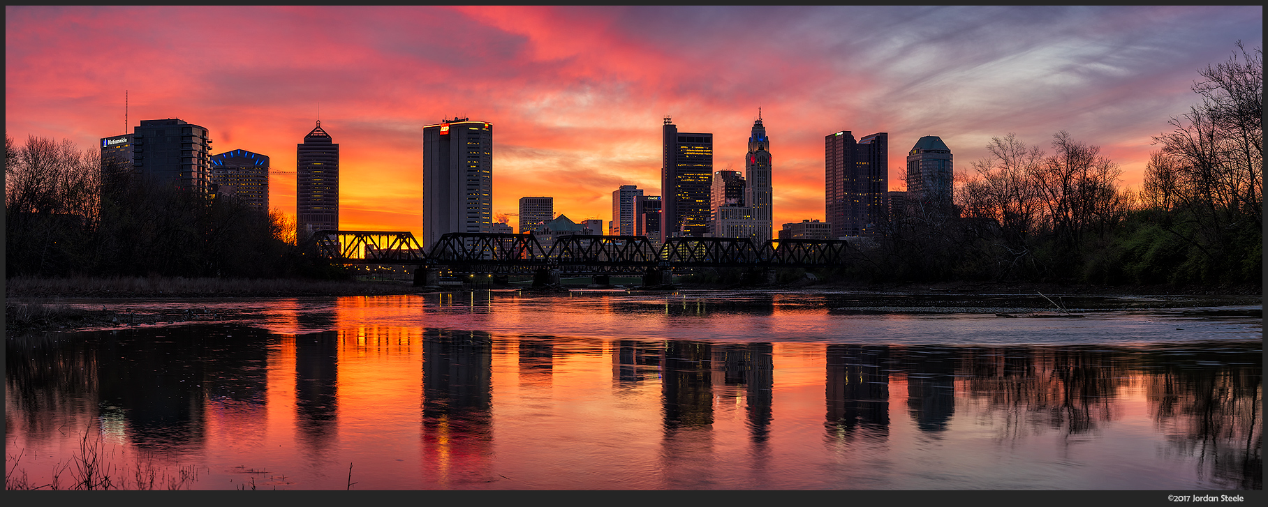 Columbus at Sunrise- 6 image stitch - Sony A7 II with Sony FE 85mm f/1.8 @ f/11