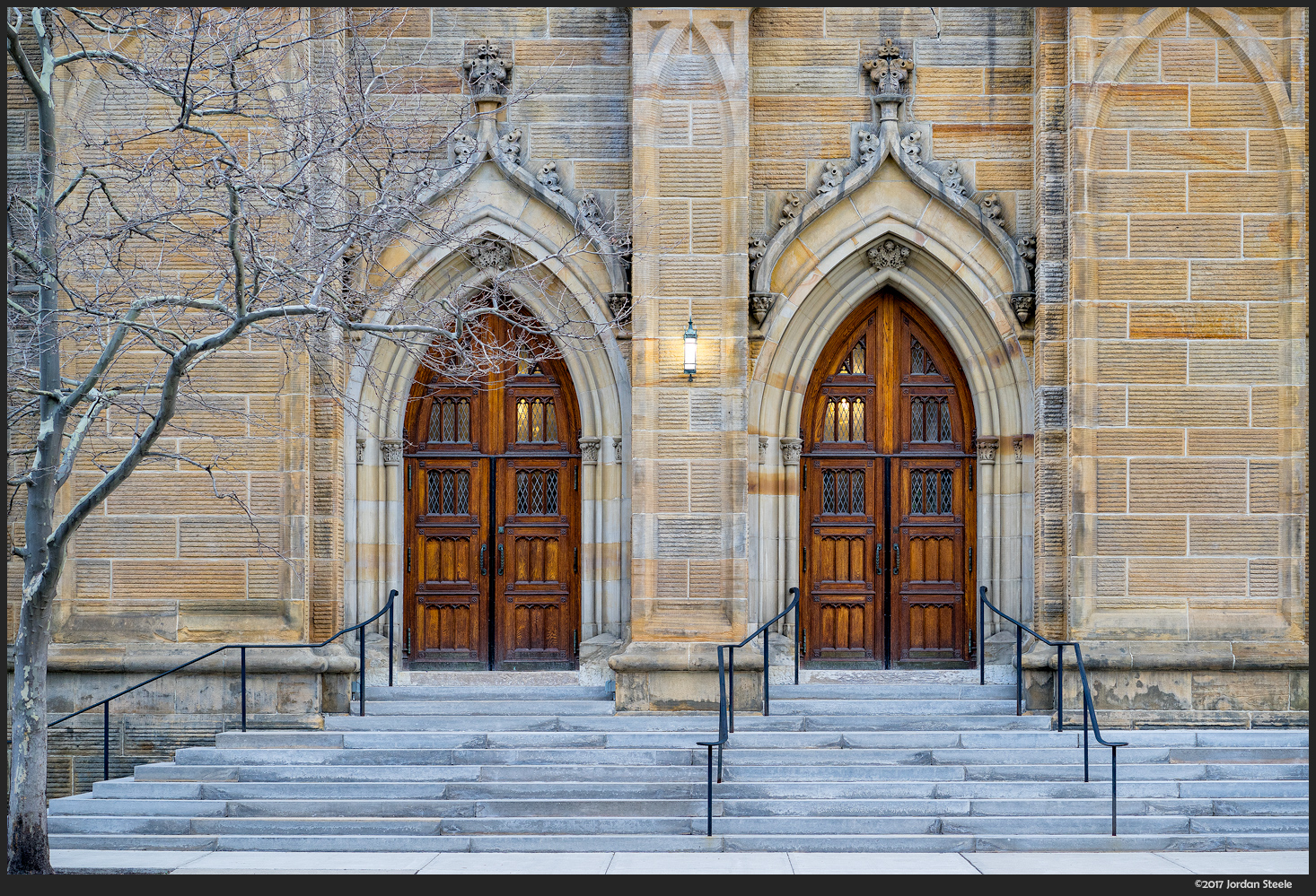 Church Doors - Sony A7 II with Sony FE 85mm f/1.8 @