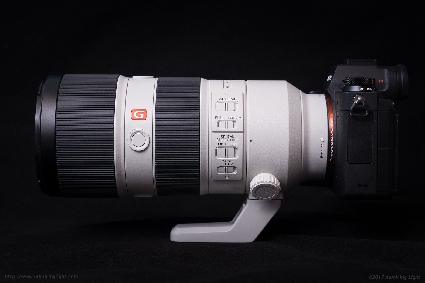 The side controls are plentiful on the FE 70-200mm f/2.8 GM