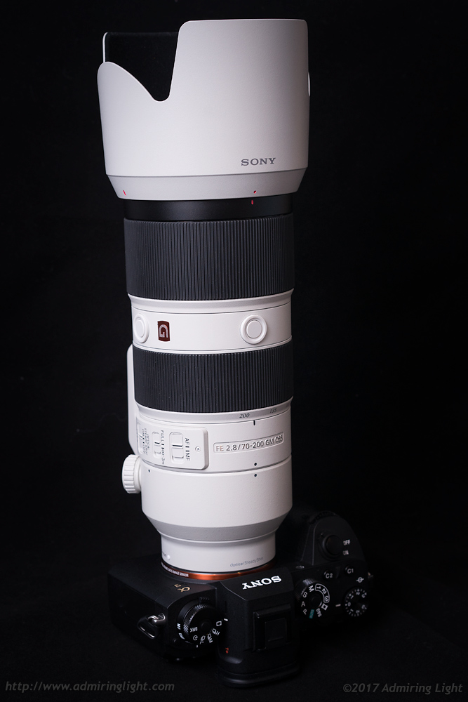 The 70-200mm f/2.8 GM with lens hood.