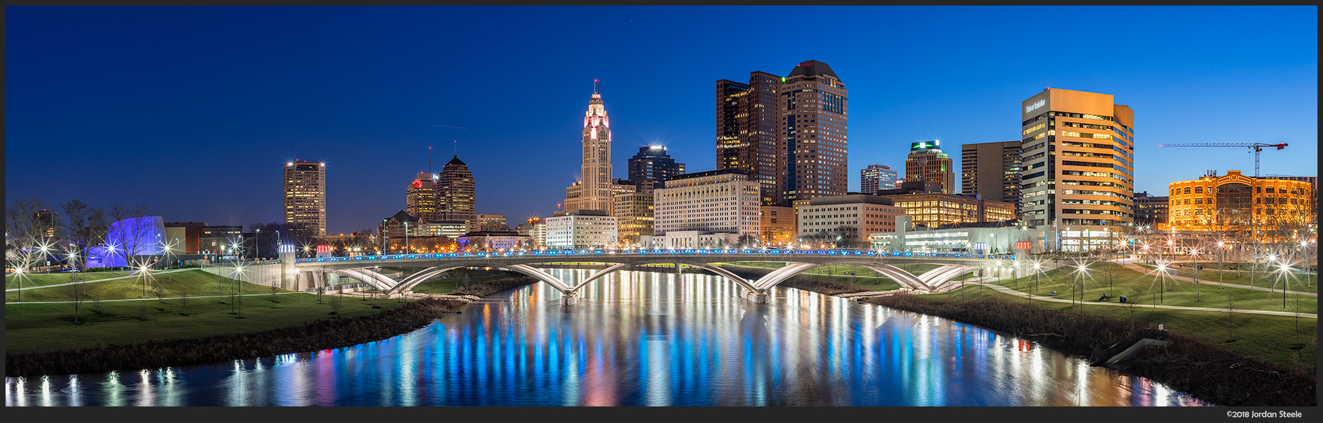 Columbus Before Dawn (3 image stitch) - Sony A7 II with Voigtländer 35mm f/1.4 Nokton Classic @ f/11