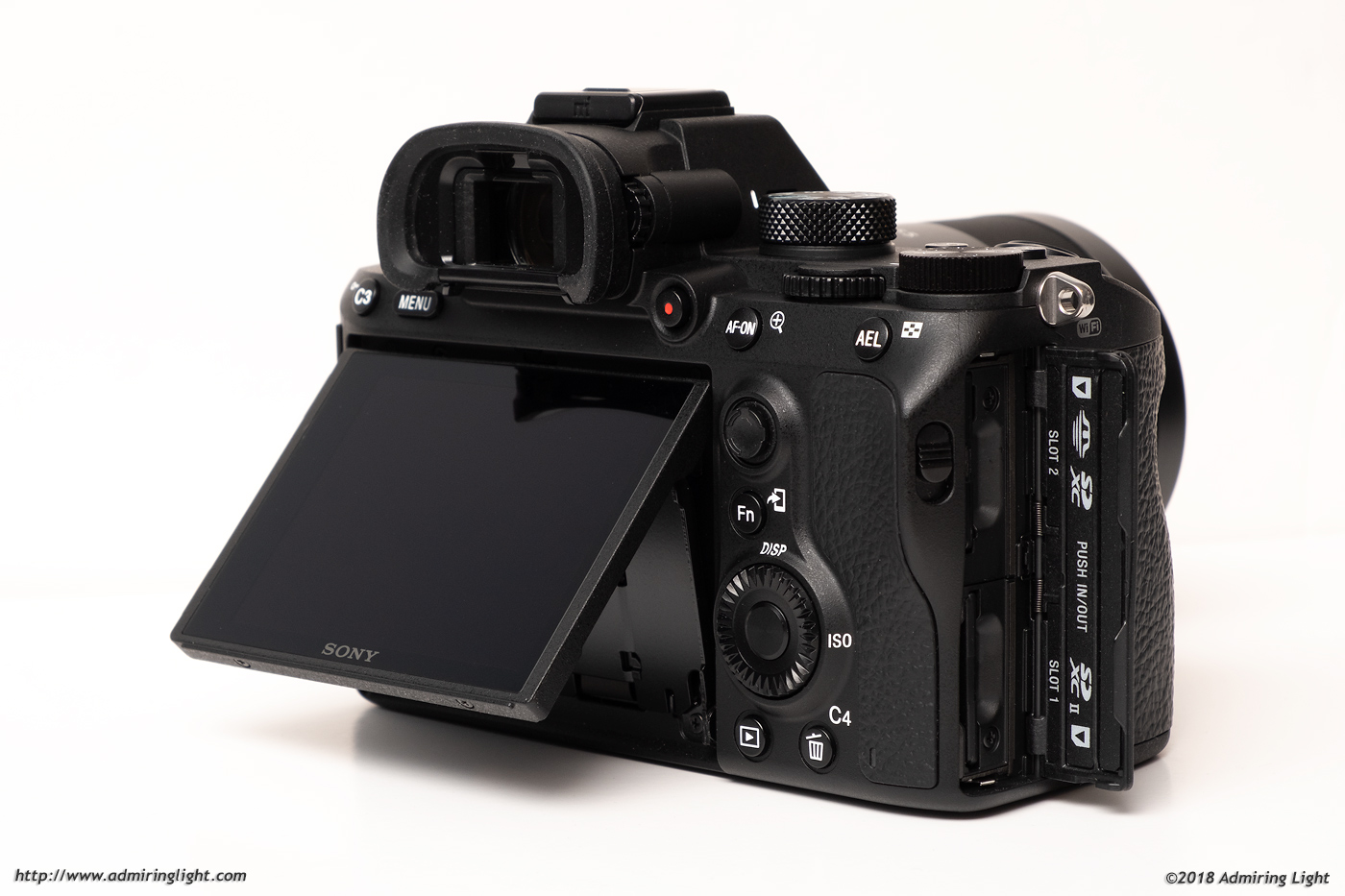 The tilting rear screen and dual card slots of the A7 III