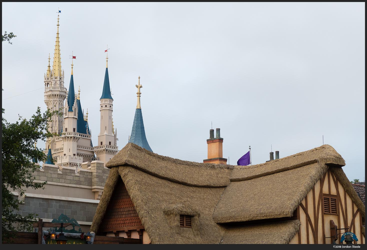 Castle in the Morning, Magic Kingdom - Canon Powershot G7X Mark II @