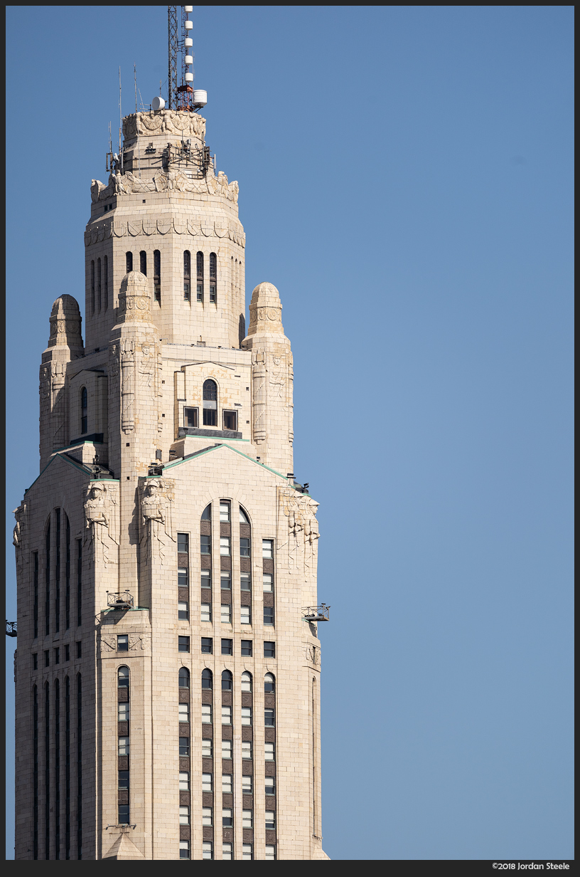 LeVeque Tower, Columbus, OH - Sony A7 III with Sigma 100-400mm f/5-6.3 @ 400mm, f/6.3
