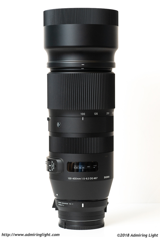 The Sigma 100-400mm with included hood