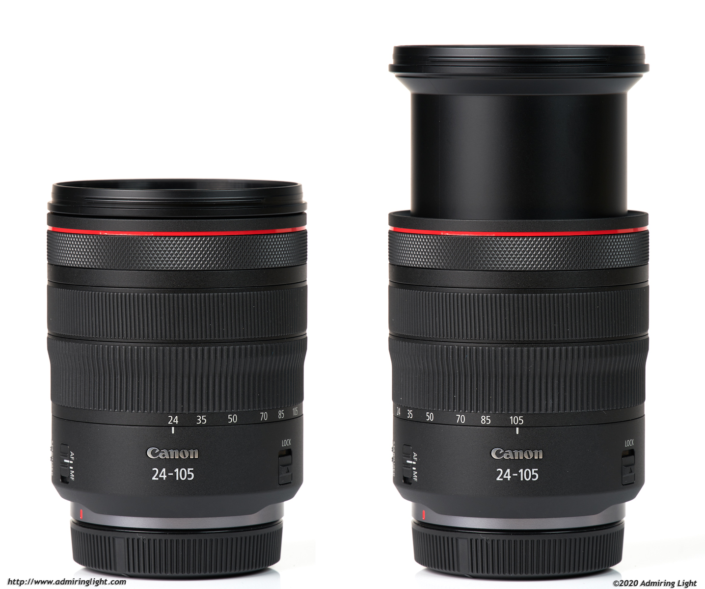 Canon RF 24-105mm f/4L IS, zoom extension
