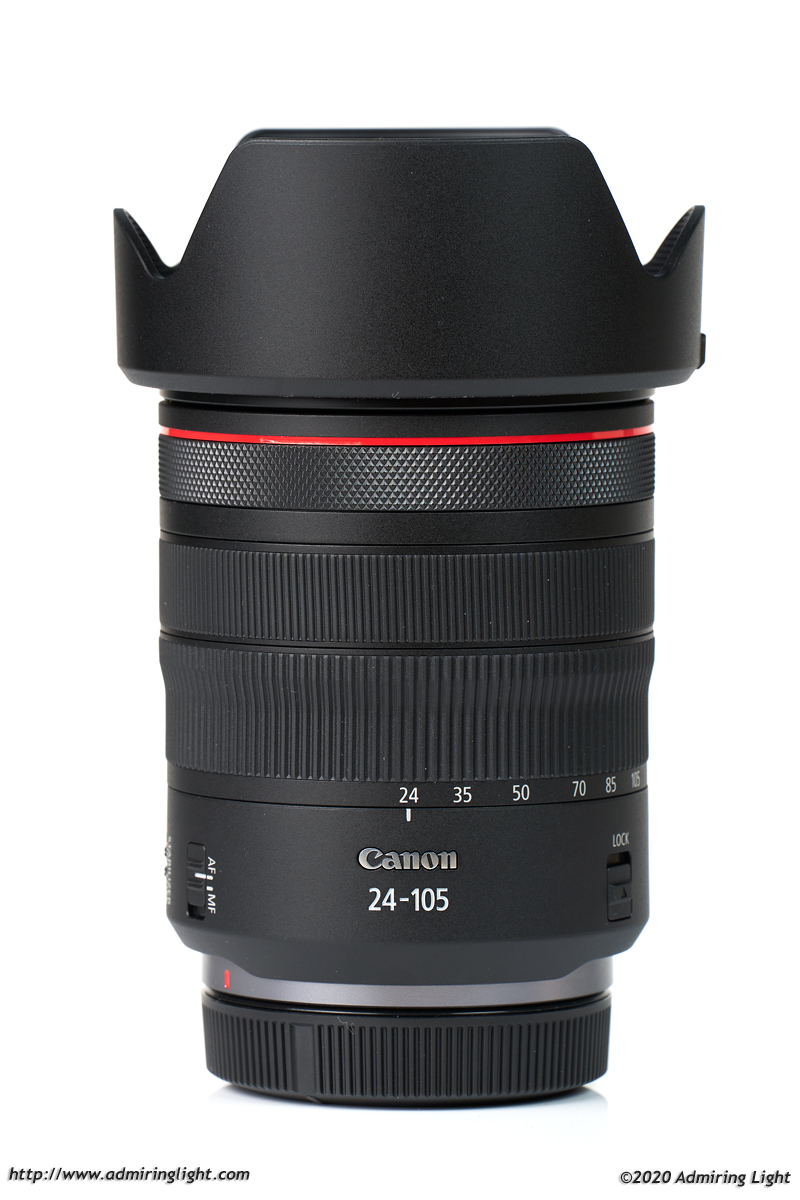 Canon RF 24-105mm f/4L with hood